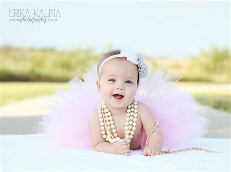 themes for baby photoshoots baby girl six months photo shoot fort worth