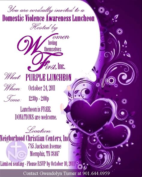 color for domestic violence loving themselves inc purple luncheon for