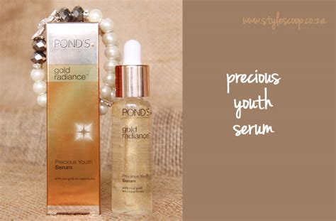Serum Ponds pond s gold radiance stylescoop south