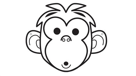 monkey mask template animal mask template animal templates free premium