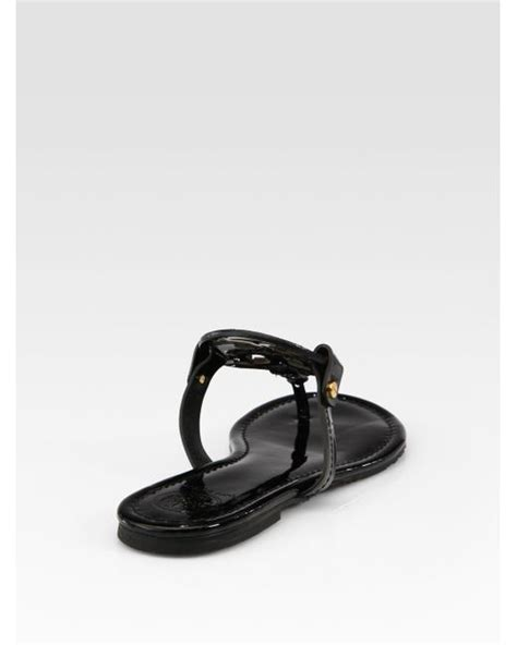 burch miller patent sandal burch miller patent leather logo sandals in