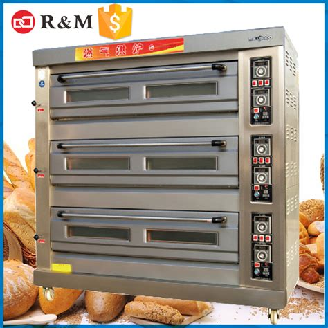 Oven Gas Bakery 3 deck 9 trays deck pizza baking ovens bakery gas