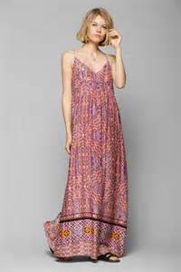 Dress Tile Jeanny pink maxi dress minkpink watercolor tiles