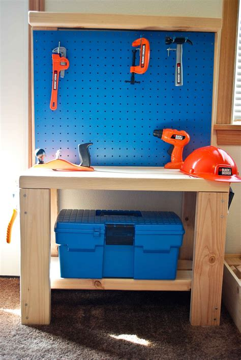 play work bench build wooden diy workbench kids plans download drafting