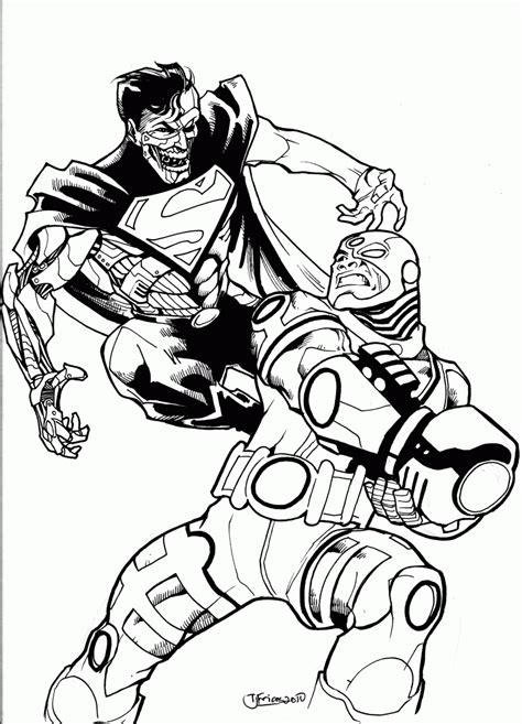 Collection Lany Jaket Superman Hitam cyborg coloring pages coloring home