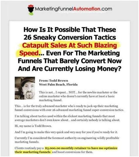 4 Landing Page Types That Are Guaranteed To Convert And How To Use Them The Invesp Blog Sales Page Template