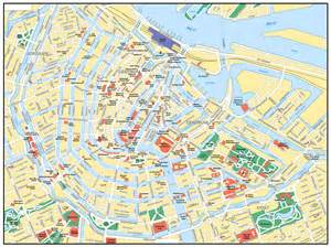 central road map maps of amsterdam detailed map of amsterdam in