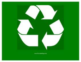recycle sign template printable recycle logo sign