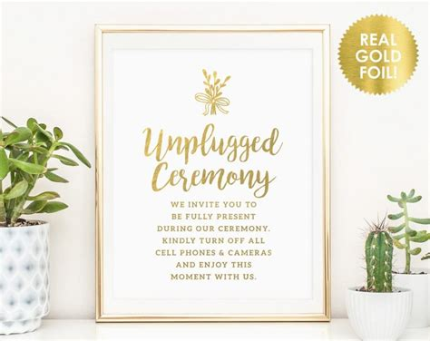 Wedding Ceremony No Phones by Unplugged Ceremony Signs Unplugged Wedding Sign No