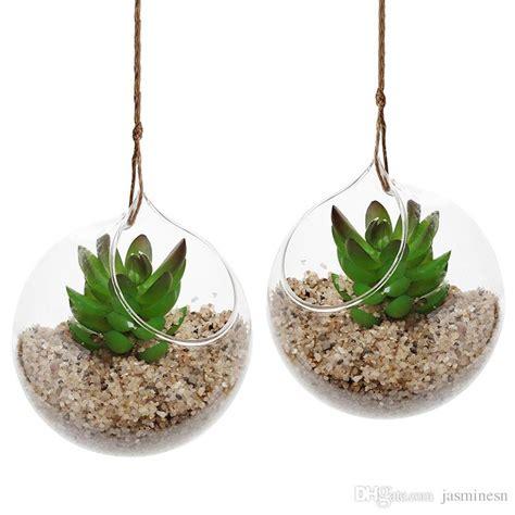 Dijamin Glass Dome Globe 8cm For Terrarium 8 cm creative hanging glass vase succulent air plant display terrarium decorative clear glass