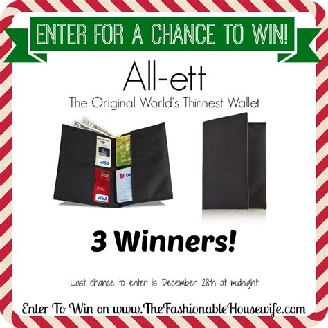 enter for a chance to win all ett wallet the world s thinnest wallet 3 winners - Enter For A Chance To Win Money