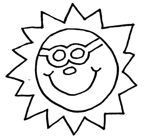 sun template for kids az coloring pages