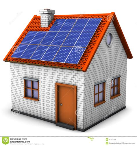 solar panel house plans house solar panels royalty free stock photo image 27287125