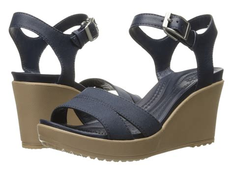 crocs leigh ii ankle wedge zappos free shipping both ways
