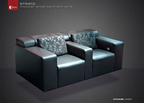 cineak strato modular entertainment sofa modern
