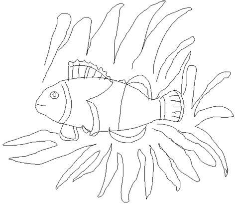 sea anemone and clownfish clip art cliparts