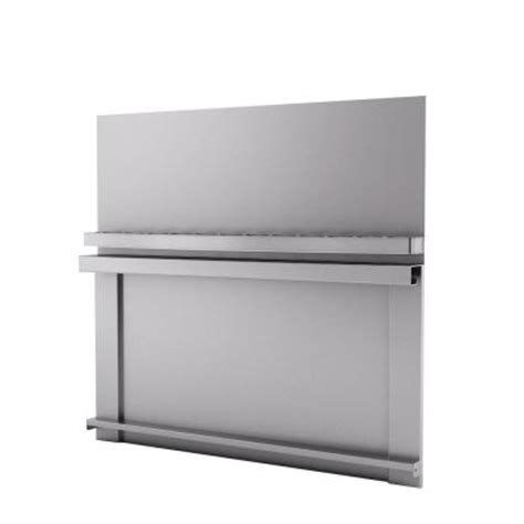 inoxia spicy 30 in x 30 in stainless steel backsplash