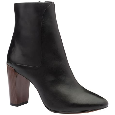 ted baker yamato block heel ankle boots in black black