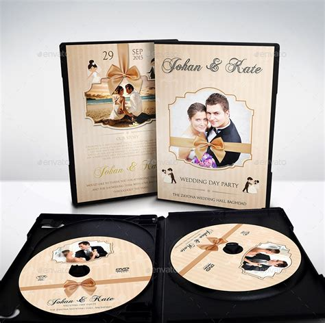 wedding dvd cover and dvd label template vol 5 by