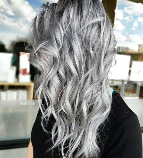 bayalage grey hair silver grey hair balayage