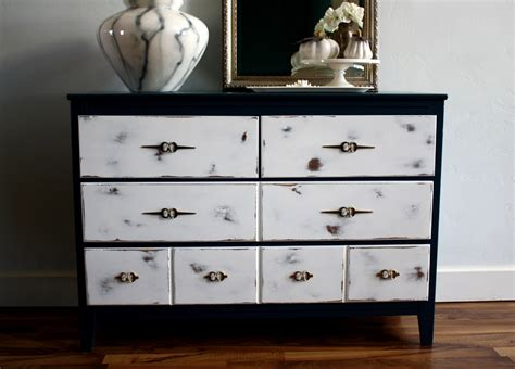 White Black Dresser The Turquoise Iris Furniture Mid Century Tuxedo
