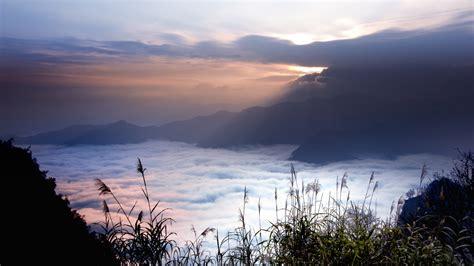 hd wallpaper  cloudy mountain fog