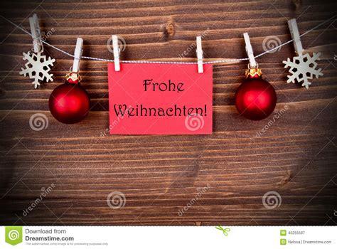 red banner  frohe weihnachten stock photo image