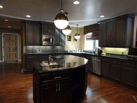 Dark Cabinet Kitchen Ideas by Kitchen Decorating Ideas Dark Cabinets The Wall The