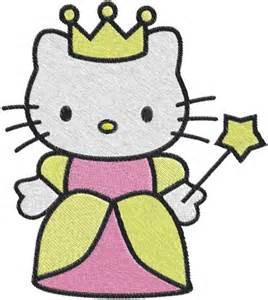 kitty princess machine embroidery design 0586 phoenixembroidery needlecraft artfire