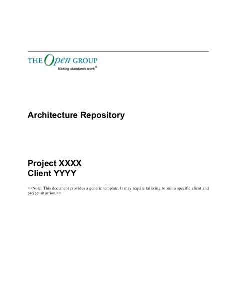 togaf 9 1 templates togaf 9 template architecture repository