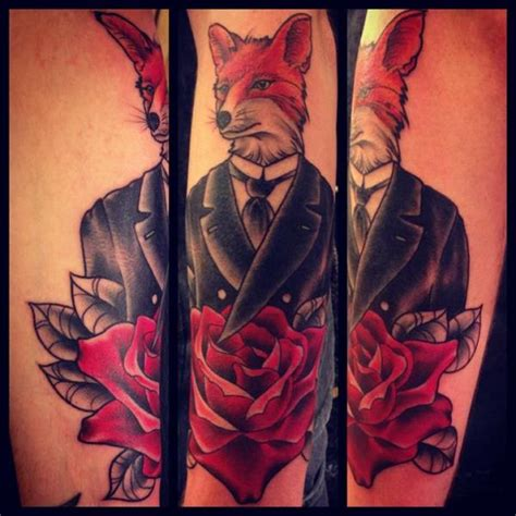 tattoo old school fox tatuaje brazo fantasy old school zorro por sarah b bolen