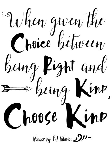 printable kindness quotes choose kind with wonder the movie free printable