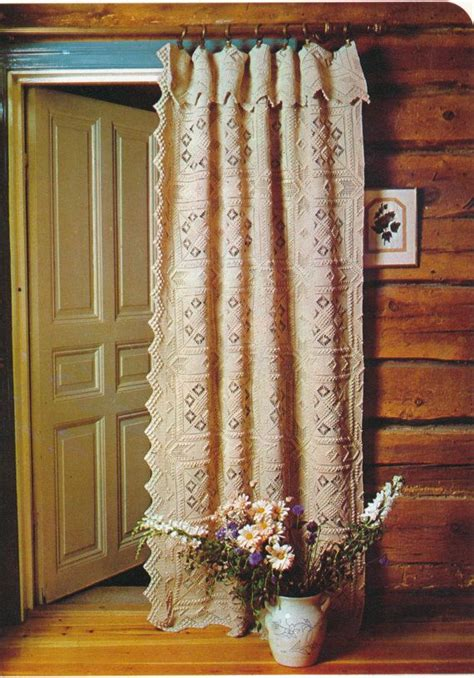 crochet curtain vintage retro crocheted curtain bedspread with open work