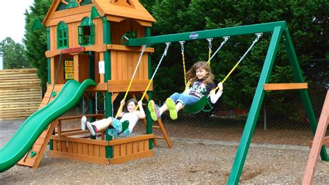 kids play swing set exterior cedar summit playset with gorilla swing sets