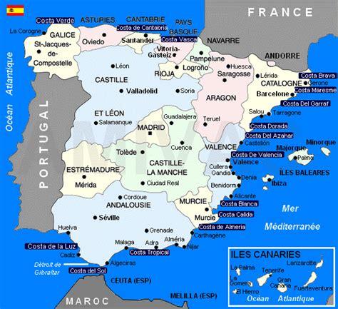 Infos sur : carte espagne costa Arts et Voyages