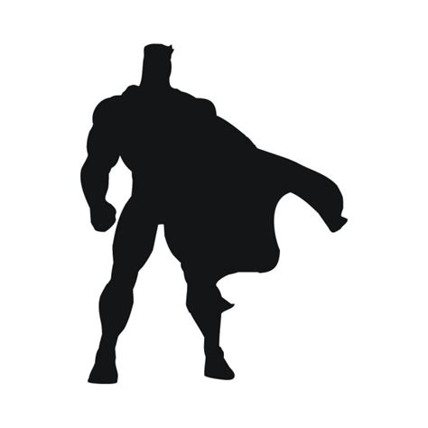 Childrens Wall Decor Stickers superhero cape silhouette superheroes wall stickers
