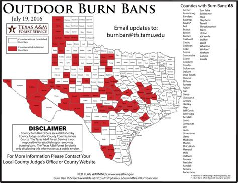 texas county burn ban map burn ban in brazos county wtaw wtaw