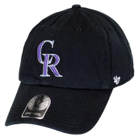 47 brand colorado rockies mlb clean up strapback baseball