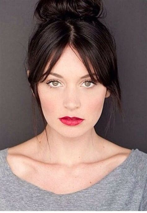 fringes with middle aparts hair styles 25 best ideas about middle part bangs on pinterest