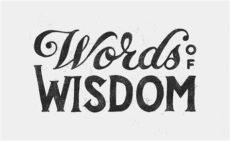 words  wisdom wowproject  behance