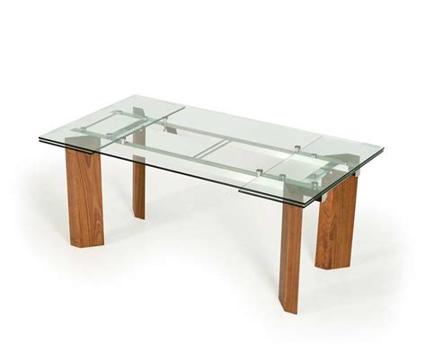extendable table legs extendable glass top dining table vg 048 modern dining