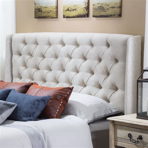 Upholstered Wingback Headboard Alcott Hill Upholstered Wingback Headboard Reviews Wayfair