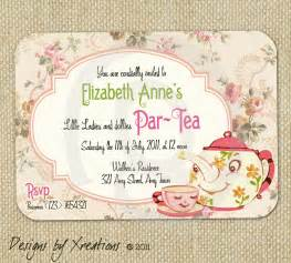 items similar to vintage tea invitation digital template customizable wordings