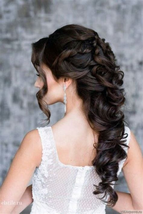 curly hairstyles for long hair half up best wedding hairstyles for long hair weddingwide com
