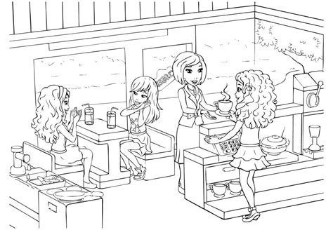 lego friends christmas coloring pages coloring pages