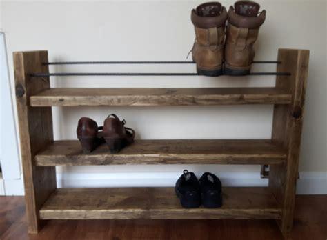 Rustic Shoe Rack by Shoe Rack Rustic Shoe Rack Wood Shoe Rack By