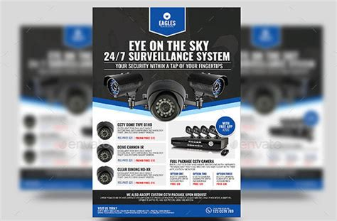 21 Nice Flyer Templates For Security Company Desiznworld Cctv Flyer Template
