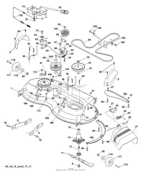 husqvarna lawn mower parts diagram husqvarna yth21k46 96045002602 2011 08 parts diagram