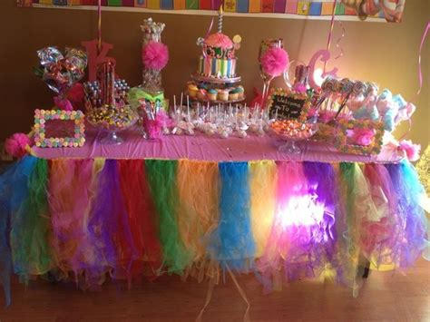 Candyland Table Decorations by 1st Birthday Candyland Birthday Ideas