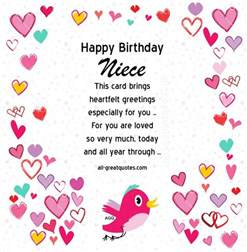 free niece birthday cards gallery quotes happy birthday niece